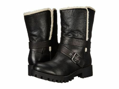 NEU NINE WEST BROWN LEATHER SHEARLING BOOTS SIZE 7.5 M 149