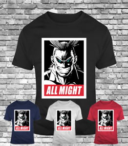 New All Might ob my hero academia plus ultra men/'s t-shirt anime tee midoriya