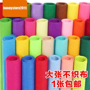 Felt-Fabric-Yard-Non-woven-Sheet-Craft-In-Plain-Colours-Wool-Blend-DIY-Material