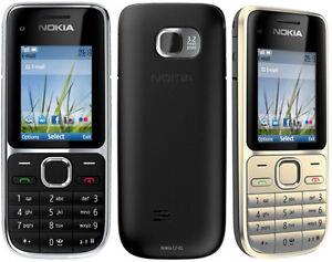 New Unlocked Original Nokia C2-01 3G  Bluetooth Camera Mobile Bar Cell Phone