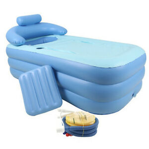 Adult PVC folding Portable bathtub inflatable bath tub Air Pump NO ...