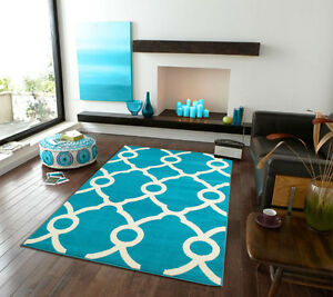 Large 8x11 blue rugs moroccan trellis modern rug 5x8 for Garden room 2x3