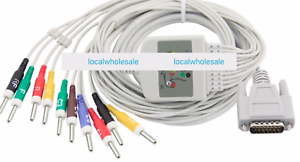Details about ECG Cable Compatible Shenzhen Carewell ECG - 1103G din 3 0