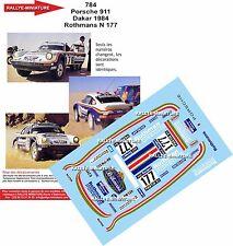 DÉCALS 1/43 réf 784 Porsche 911 Dakar 1984 Rothmans N 177 Kussmaul Lerner