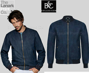 B&C DNM Supremacy Mens Denim Bomber Jacket BA808 | eBay