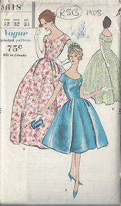 4ed24d1e1c7d 1958 Vintage VOGUE Sewing Pattern B32