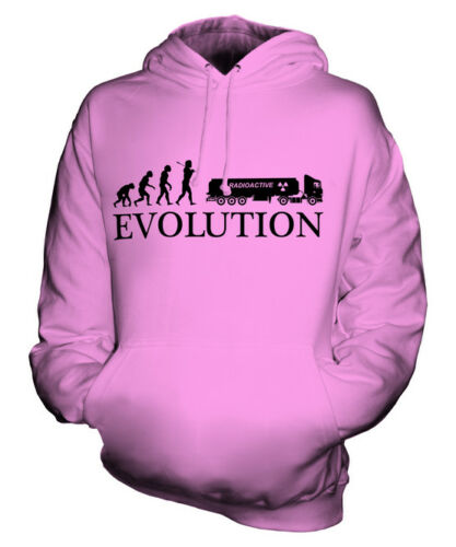 WASTE REMOVAL EVOLUTION OF MAN UNISEX HOODIE TOP GIFT TRUCKER LORRY