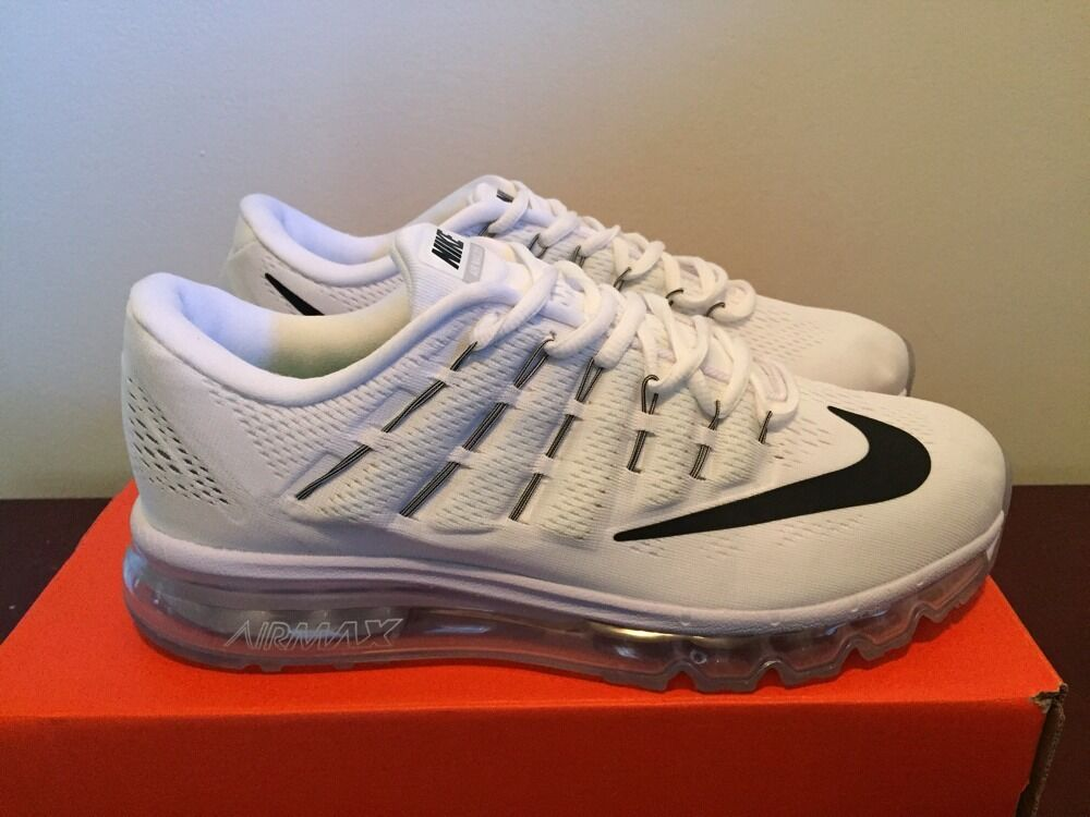 650f778a27e7ff 60%OFF Men Nike Air Max 2016 Sz 10 White Black Running Shoes ...