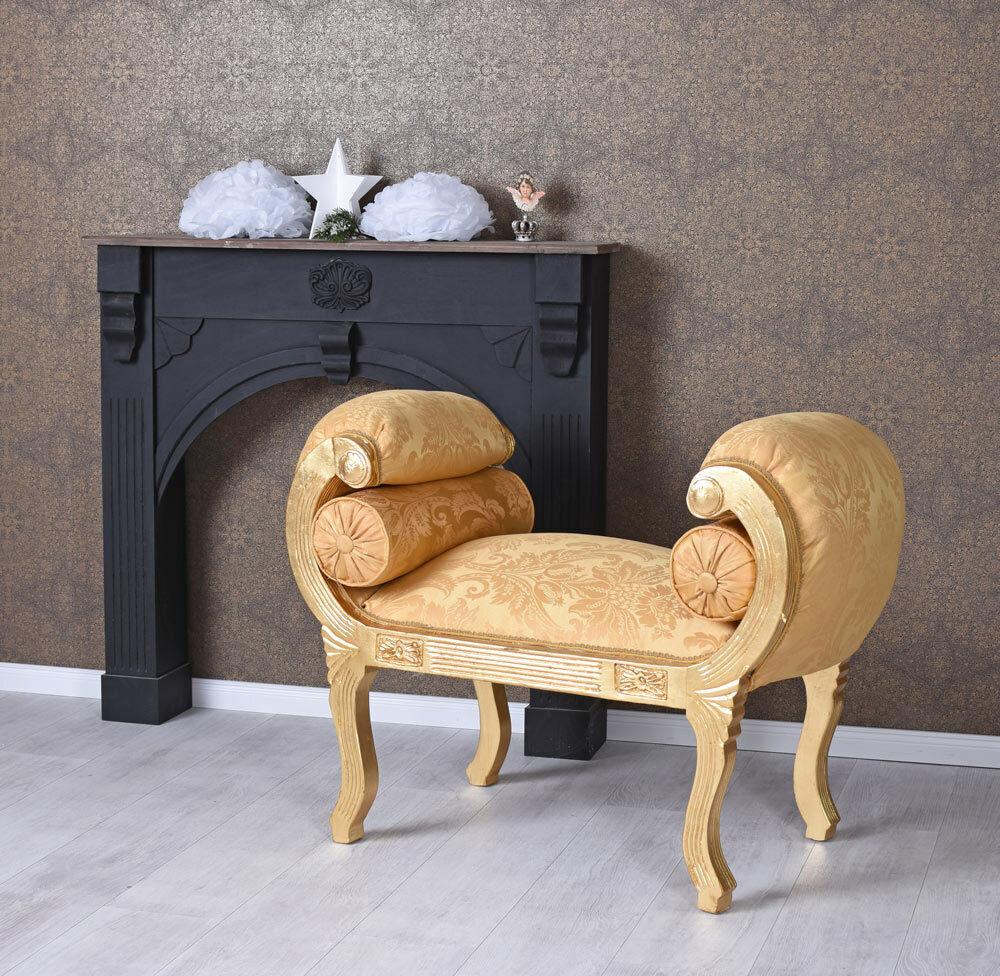 Canapé Baroque Style Versailles Or Retro Tabouret Chaise Longue