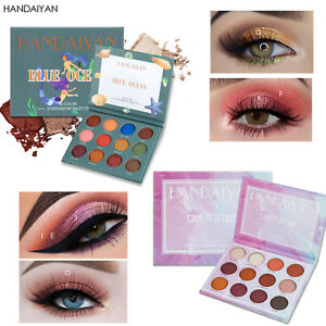 Belleza-Brighten-Powder-Eye-Cosmetics-Paleta-de-sombra-de-ojos-Brillo-perlado