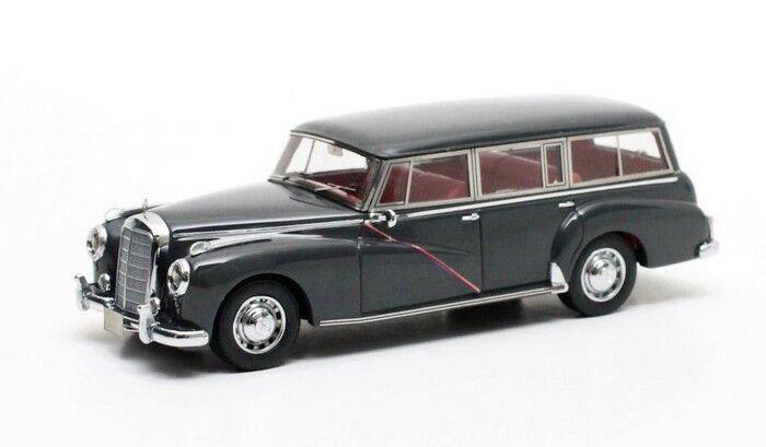Célébrez Noël et bienvenue au Nouvel An Mercedes MB W186 300C Binz combi gris 1956 1/43 Matrix | New Style