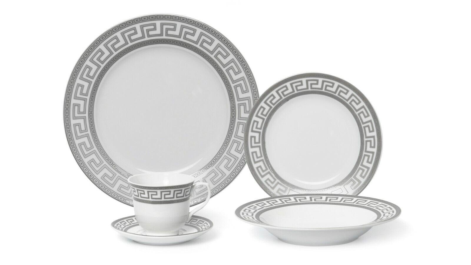 Joseph Seigh GP1347-20P, 20 pcs fine porcelaine Dinnerware Set avec grec Motif