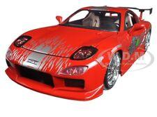 "DOM'S MAZDA RX-7 RED ""FAST & FURIOUS"" MOVIE 1/24 DIECAST MODEL CAR BY JADA 98338"