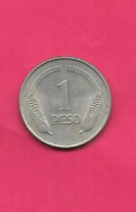 COLOMBIA-KM258-1-1975-XF-SUPER-FINE-NICE-VINTAGE-OLD-LARGE-PESO-COIN