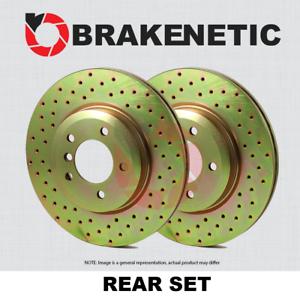 BRAKENETIC SPORT Drilled Slotted Brake Disc Rotors BNS34107.DS REAR SET