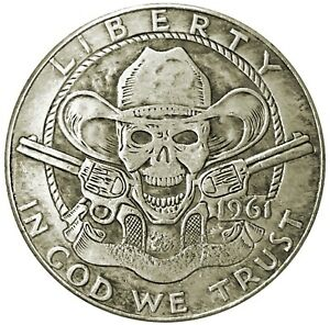 Cowboy-Crazy-Novelty-Head-Tail-Lucky-Token-Challenge-Coin-US-SELLER-FAST-SHIP