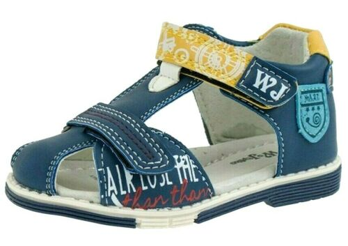 NEW BABY BOYS LEATHER LINED SANDALS HOLIDAY CLOSED TOE SUMMER WALK NURSERY SHOES