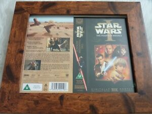 Vhs sleeve framed mounted covers small box original STAR WARS EPISODE 1 MENACE