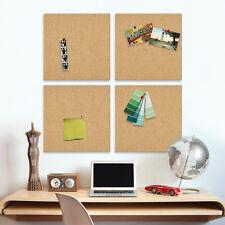 "4pk Cork Boards 17""x17"" Squares The Board Dudes Office Bulletin Natural Modular"