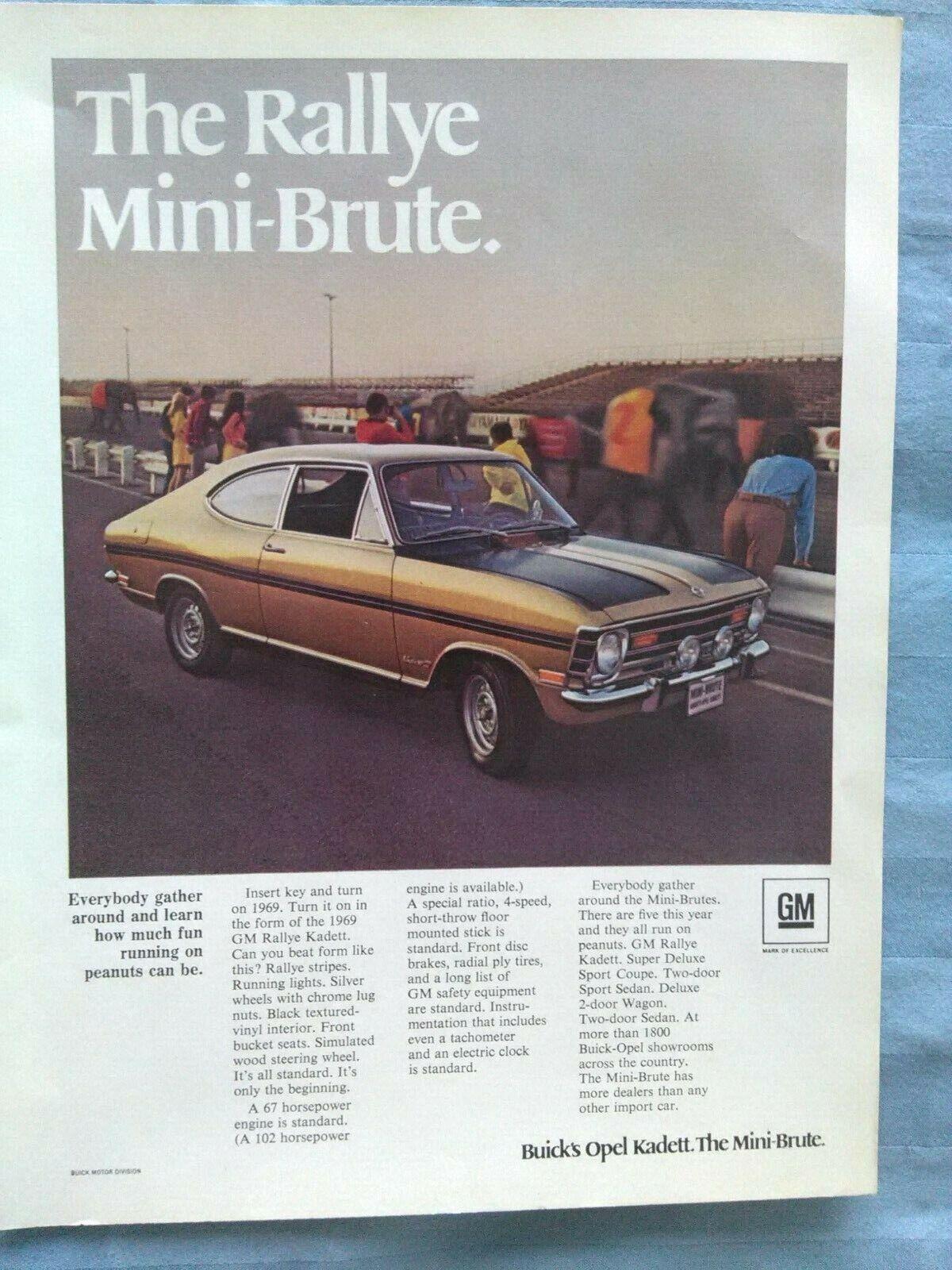 "1973 Opel GT Uncomplicated Excitement Original Print Ad 8.5 x 11/"""