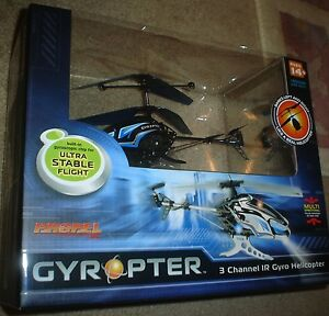 GYROPTER 3 CHANNEL IR GYRO HELICOPTER, NEW NEVER OPENED,INDOOR USE ONLY,FOR 14+