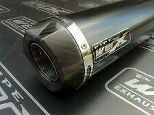 Kawasaki ZX7R 1996 - 2003 Moto GP Powder Black Carbon Outlet Race Exhaust Can