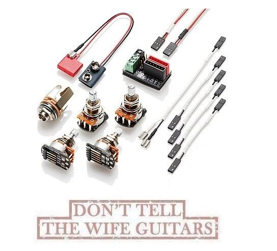 emg active wiring conversion kit for 1 or 2 pickups short shaft pots rh ebay com guitar pickup wiring kits bass active ibanez guitar pickup wiring diagram
