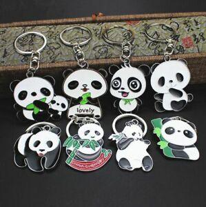Cute-Creative-Panda-Keychains-Men-Women-Pendant-Metal-Key-Ring-Key-Chain-Gifts