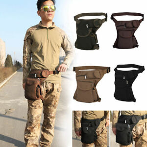 Men-Canva-Tactical-Motorcycle-Riding-Hip-Fanny-Pack-Waist-Thigh-Drop-Leg-Bag-Lot