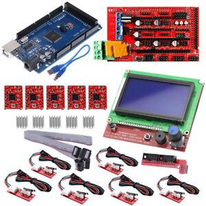 CNC-3D-Printer-Kit-Mega-2560-R3-RAMPS-1-4-Controller-12864-LCD-5x-A4988-Driver