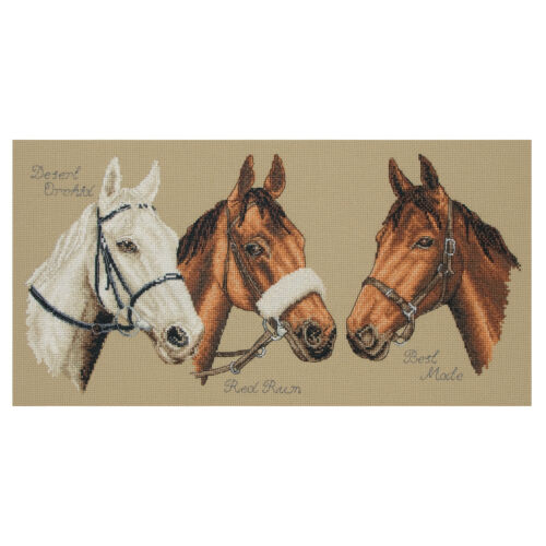 chevaux ~ PCE722 ANCHOR ~ Counted Cross Stitch Kit ~ trois Champions