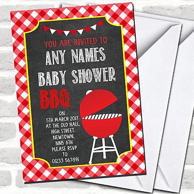 Red Bbq Invitations Baby Shower Ebay