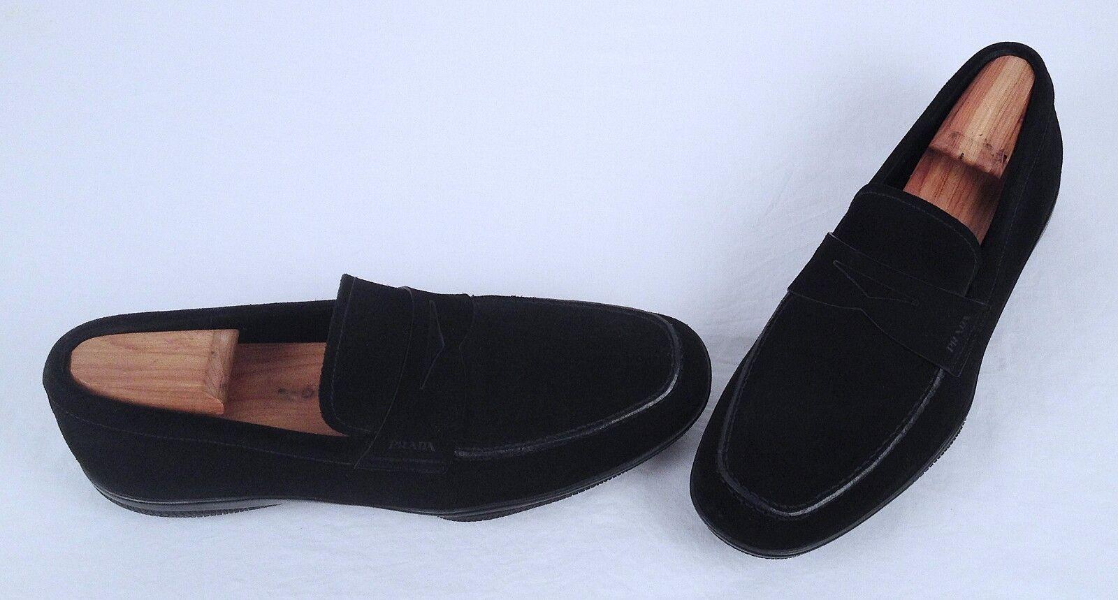 Prada 'toblak' Penny Mocasín-Negro-EE. UU. 7.5 Reino Unido  (C20)