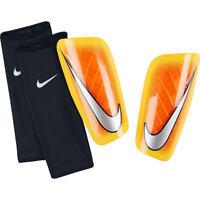 Nike Mercurial Lite 2015 - 2016 Shin Guard Slip Shield Brand Orange / Silver