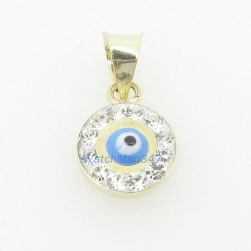 womens bp117 kabbalah evil eye 14k solid yellow gold good luck charm pendant