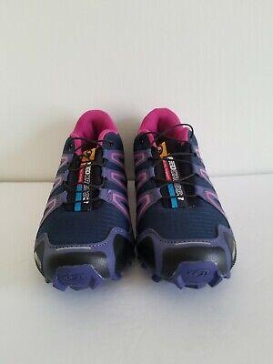 Salomon Women Navy Purple Running Shoes Speedcross 3 uk