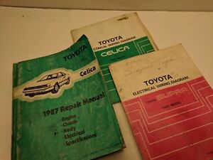 Details about 1987 Toyota Celica Supra OEM Factory Shop Manuals and on plymouth engine, plymouth interior diagrams, plymouth parts diagrams, plymouth transmission diagrams,