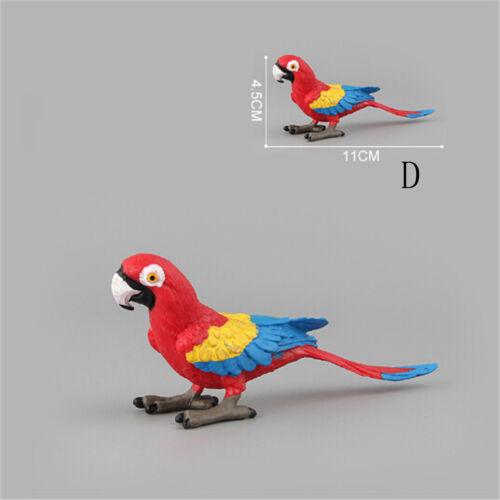 Simulation perroquet oiseau figurine modèle animal miniature décorationIHS