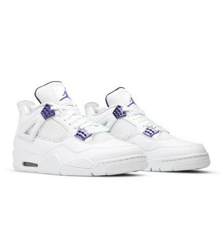 Size 9 - Jordan 4 Retro Metallic Pack - Court Purple 2020
