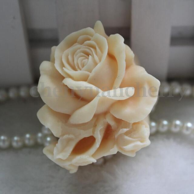 3D Silicone Rose Flower Soap Candle Mold Soap Making Mould DIY Mold Craft HH