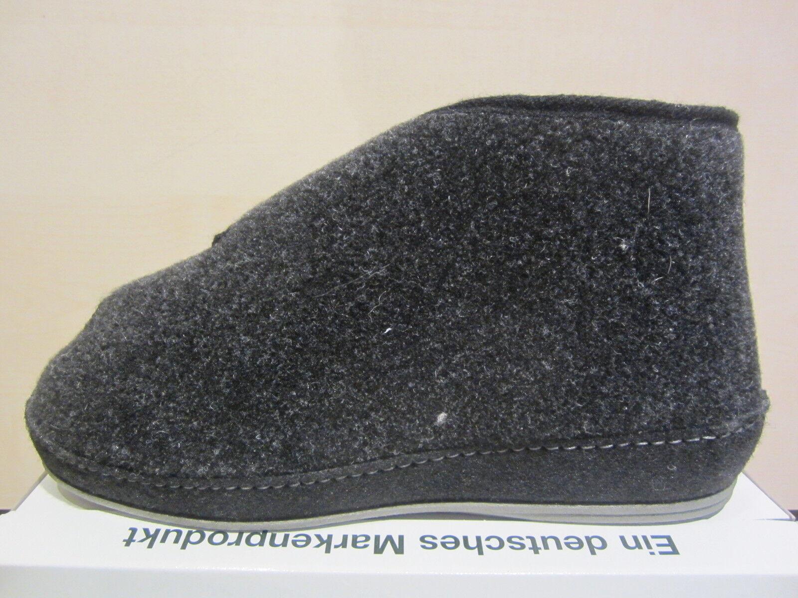 Schawos Herren Hausschuh  Hausschuhe mit Klettverschluss, schwarz  Hausschuh  6062  NEU 4828eb