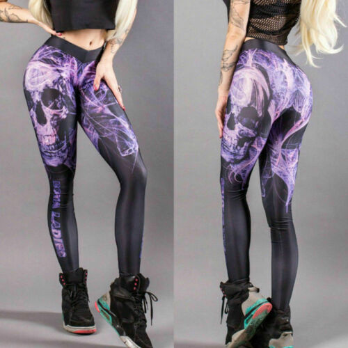 Women High Waist Sports Yoga Pants Fitness Leggings Running Stretchy Trousers