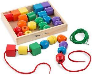 Melissa-amp-Doug-544-primaire-Lacage-Perles-Jouet-educatif-avec-30-multicolore