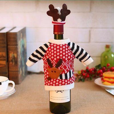 Inventivo Natale Bottiglia Di Vino Copertura Regalo Alce Pullover Costume Imballaggio Vino- Una Custodia Di Plastica è Compartimentata Per Lo Stoccaggio Sicuro