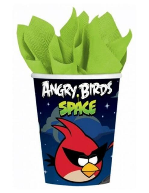 Angry Birds Space 8 Paper Cups Birthday Party Table Decorations