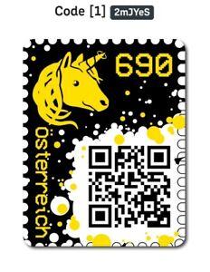 Crypto-Stamp-Gelb-einzigartig-mit-dem-Wort-034-Yes-034-im-Code-amp-Token-ID-78047