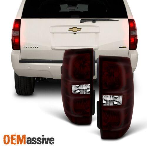 Fit 07-14 Yukon XL Tahoe Suburban Dark Red Taillights Brake Lamps Replacement