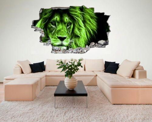Löwe Lion Abstrakt Wandtattoo Wandsticker Wandaufkleber C0070