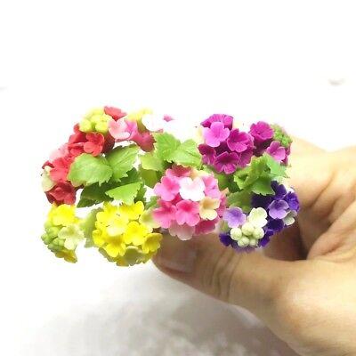 Purple Evening-Primrose Handmade Clay Plant Flower Miniature Dollhouse