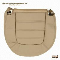 2004 2005 Ford Explorer Front Driver Bottom Leather Seat Cover- Color Tan